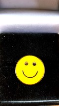 smiley Metal Enamel Badge Lapel /tie Pin Badge  with clip for rear of badge.