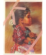 Lot of 5 Artisan Blank Greeting Note Cards Little Mother by Carol Theroux - $17.50