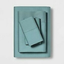 """3pc MADE BY DESIGN Temperature Balancing Solid Sheet Set TEAL- TWIN XL 68""""x96"""""""