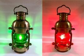 Lantern Electric Red/Green Lamp Decorative Hanging Lantern Marine Ship S... - £176.13 GBP