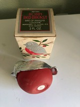 Avon Robin Red Breast Bird Of Paradise Cologne 2 Fl Oz 1974 Almost Bottle - $9.89