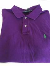 Ralph Lauren Purple Classic Fit Short Sleeve Polo Boys Xl - $21.73