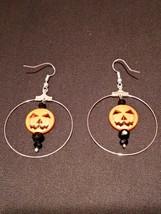 Halloween Pumpkin Dangle Earrings - $9.85