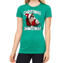 Grumpy Cat Christmas Shmistmas Women's Kelly Green T-shirt NEW Sizes S-2XL - $22.76+
