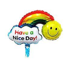 Black Temptation Set Of 10 Cartoon Rainbow Party Balloons Aluminum Balloons - $13.55