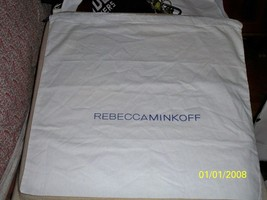 REBECCA MINKOFF Handbag Purse Cover Storage Sleeper Drawstring Dust bag 20x20 - $10.88