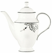 Lenox Floral Waltz Coffeepot With Lid Platinum Florals 48oz New In Box - $124.90