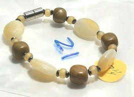 Beaded Bracelet Magnetic Hematite Clasp Single Strand   7 Inch   (MAG-021) image 3
