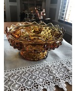 VTG FENTON AMBER HOBNAIL GLASS MULTIPLE SIZE CANDLE HOLDER MARKED PATENT... - $21.78