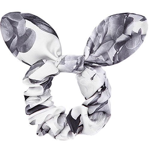 Elegant Rabbit Ears Hair Rope Ponytail Holders Hair Headwear(Gray)
