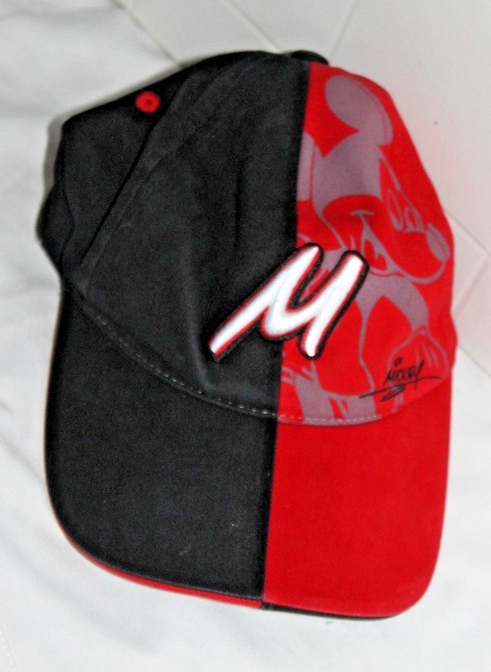 94e392214a742 57. 57. Previous. Walt Disney World Mickey Mouse Red and Black Baseball Cap  Hat · Walt Disney World ...