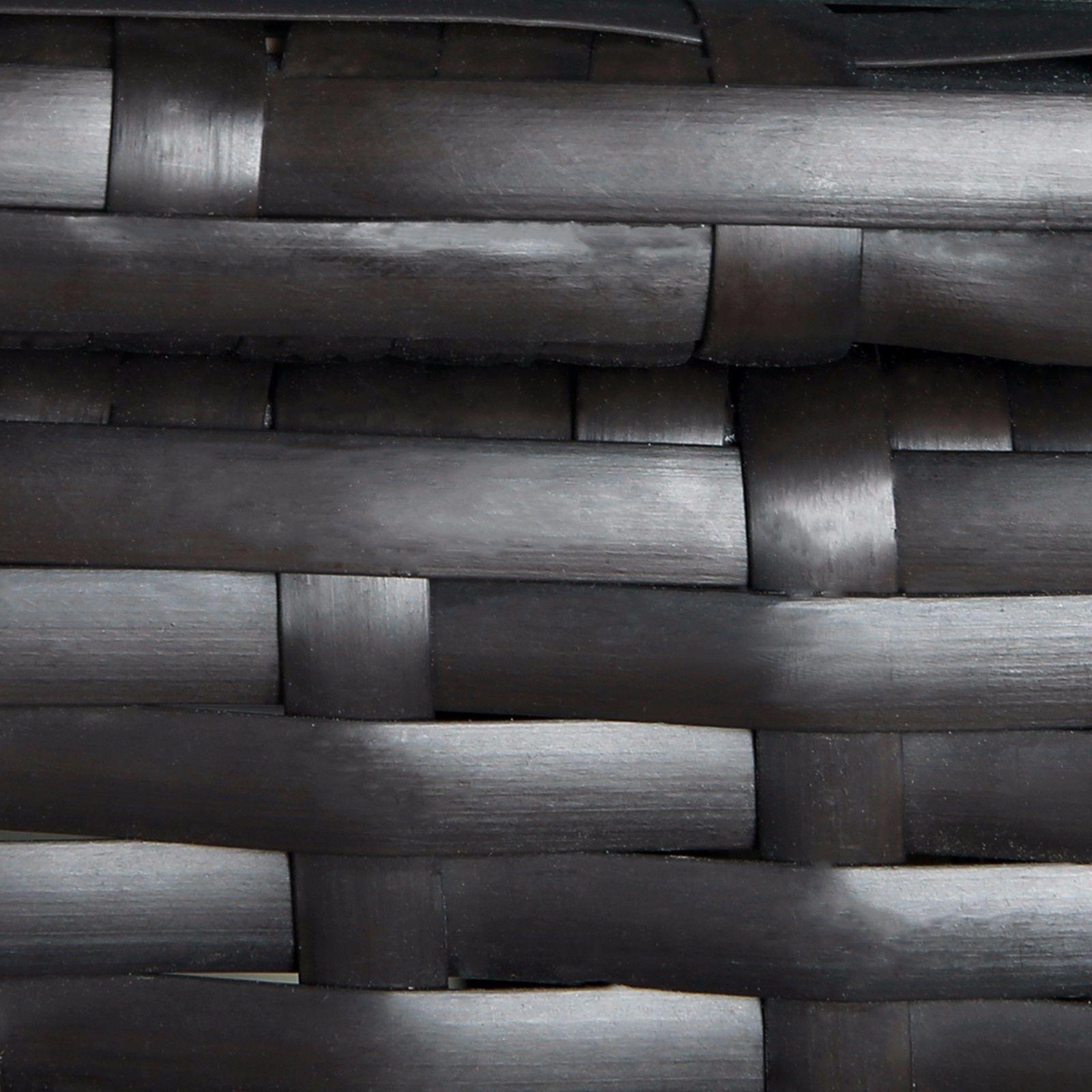 Outdoor 6 PC Rattan Wicker Patio Furniture Set Garden Sectional Sofa Set Black