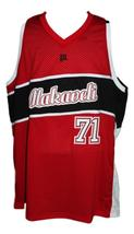 Tupac Shakur #71 Makaveli Hip Hop Custom Basketball Jersey New Sewn Red Any Size image 1