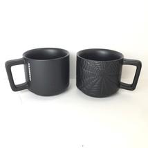 (2) Starbucks Spiderweb Mug 12oz Halloween 2019 Collection Matte Black LE - $60.00