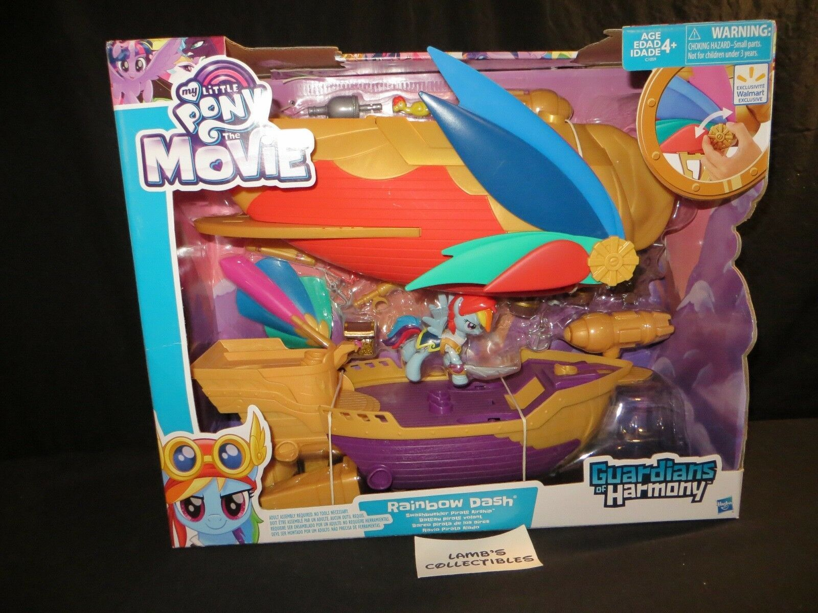Primary image for My Little Pony The Movie Guardians of Harmony Rainbow Dash Swashbuckler Airship