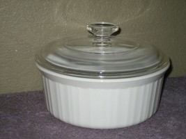 Corning Ware Round F-5-B White 1.6 L or 1.5 Quart Casserole Dish & Clear Lid - $16.79