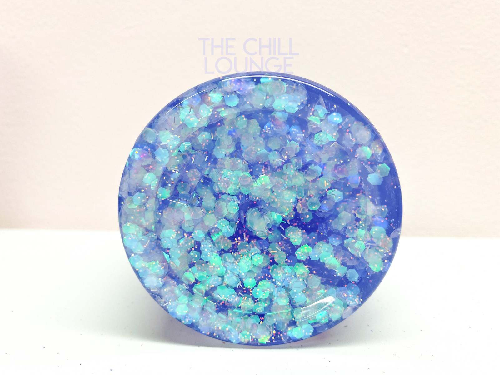 Mermaid Kiss Holographic Chunky Glitter Stretchy Clear Slime with MERMAID CHARM  image 4