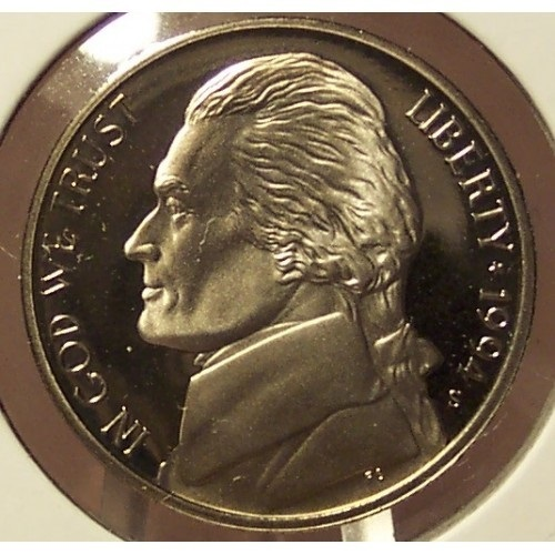 Primary image for 1994-S Deep Cameo Proof Jefferson Nickel #0733