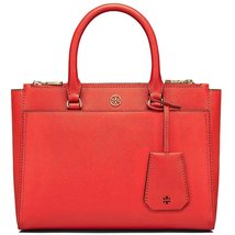 Small Robinson Double-Zip Leather Tote TORY BURCH RED TOP PRODUCT 2018  - $380.00