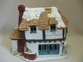 Bisque Porcelain The Village Market Building Christmas Village  - $9.95