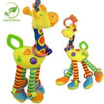 Plush Infant Baby Rattles Development Soft Giraffe Animal Handbells Hand... - $22.00