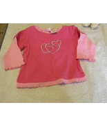 Marshall Fields Baby Pink With Hearts Shirt 9 Mos - $4.99