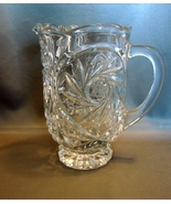 Elegant Cut Crystal Water Pitcher * Star Pinwheel Design * Heavy * - $30.00
