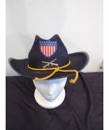 Union US Civil War Crossed Rifles Slouch Hat Yellow Cord 100% Wool Benay... - $44.66