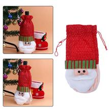 (01)10pcs Creative Merry Christmas Santa Wine Bottle Bag Cover Xmas Dinn... - $50.00