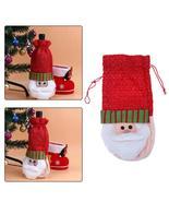 (01)10pcs Creative Merry Christmas Santa Wine Bottle Bag Cover Xmas Dinn... - $50.00