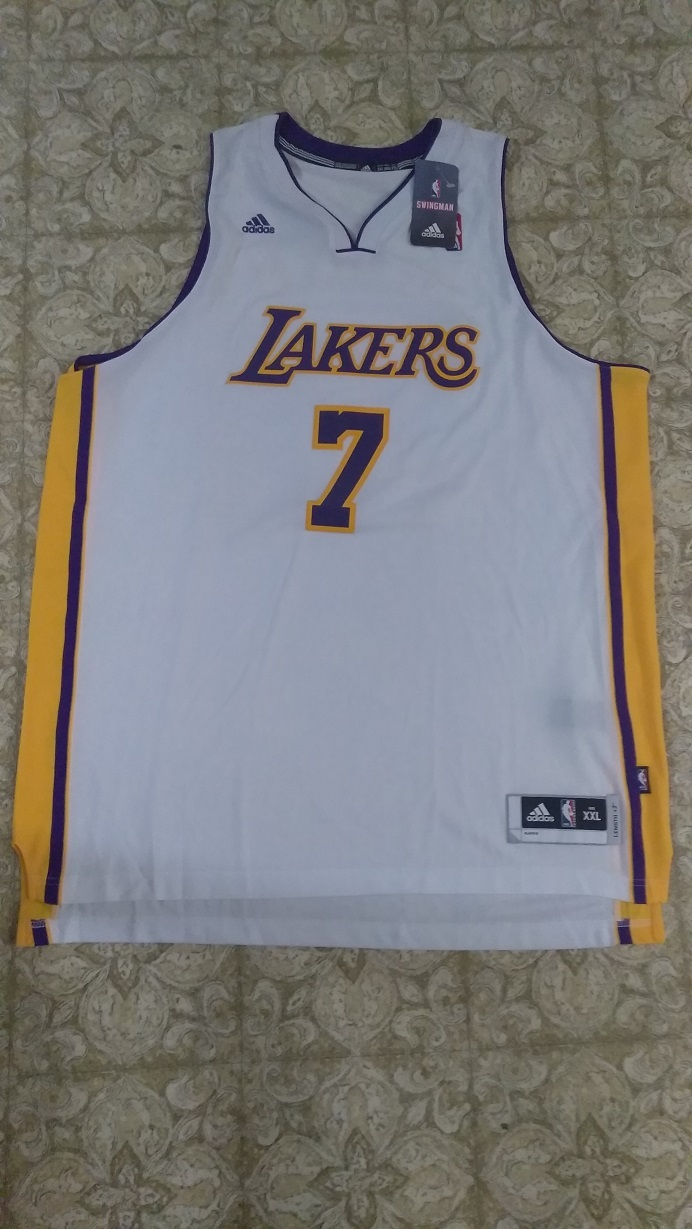 Primary image for New Adidas Ramon Sessions Swingman #7 Los Angeles Lakers White Jersey Sz XXL