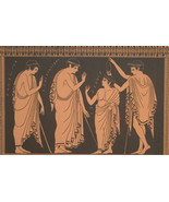 ELEUSIAN MYSTERIES Greek Religious Rites Initiation - 1893 COLOR Litho P... - $19.80