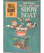 Walt Disney's Uncle Scrooge Show Boat Dell Giant Comic #55 Dell 1961 VER... - $15.44