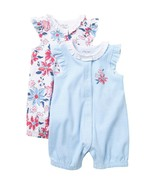 Little Me Baby Girl's 3 Months Floral Stripe 2 piece Romper Set ~ New! - $12.37