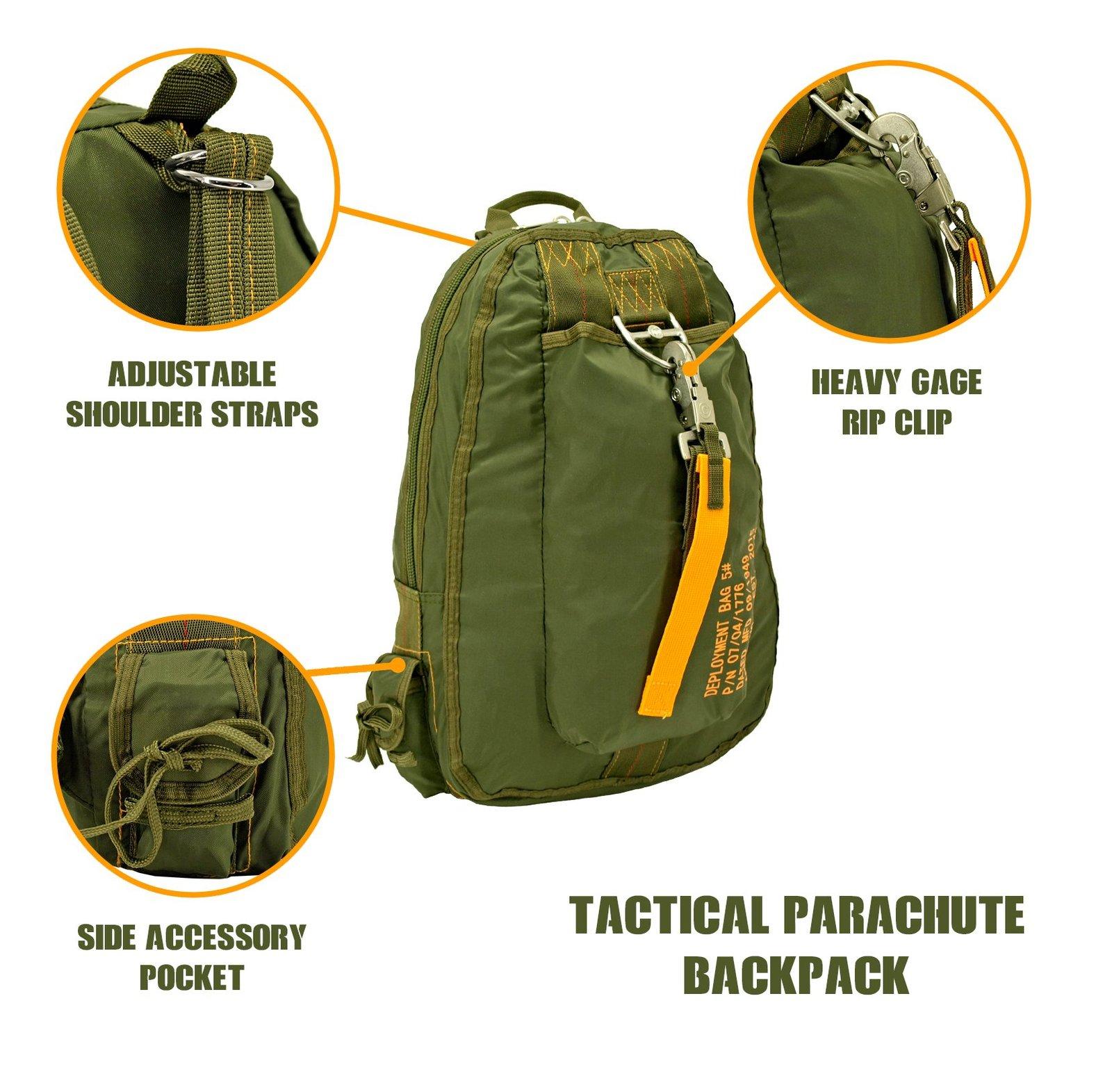 Parachute Courier Bag- Olive