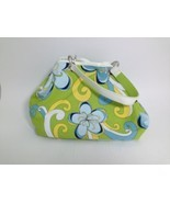 Strada Reversible Green and Blue Floral with Solid Green Satchel Bag 10 ... - $483,24 MXN