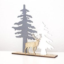 3D Wooden Ornament Christmas Decoration for Home - $12.90