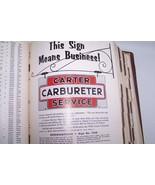 carter carburetor parts catalogue used original gas station advertising ... - $89.99
