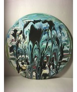 """12"""" Vinyl Music Record Wall Art - Fluid Acrylic Flowing Poured Paint 003 - $18.00"""