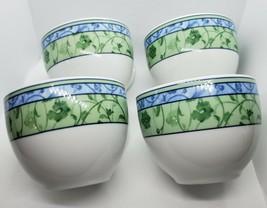 Wedgwood Home Watercolour Set 7 cups Blue Green Fine Porcelain Portugal ... - $38.70