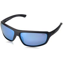 c3d81858a2 Revo Gust Polarized Men  39 s Wrap Sunglasses Matte Black Frame Blue Mirror  Lenses