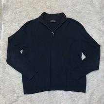 Express Extra Fine Blue Merino Wool Pullover Light Sweater 1/4 Zip Size ... - $22.72