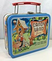 Vintage Candy Land Game Small Metal Tin Lunch Box Storage Case Organizer... - $12.86