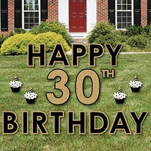 Big Dot of Happiness Adult 30th Birthday - Gold - Yard Sign Outdoor Lawn... - $102.28