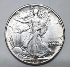 1941 Walking Liberty Half Dollar 90% Silver Coin Lot# E 151