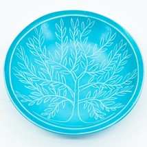 Vaneal Group Hand Carved Kisii Soapstone Blue Tree of Life Trinket Bowl Kenya