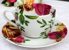 Royal Albert Country Rose 3 TEA CUPS & SAUCERS NEW - $65.45