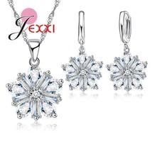 Fashion Women Children Christmas Gift Beautiful Snowflake Design Silver Chain Ne - $13.70