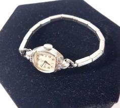 40s Elgin Women's Wristwatch 10k RGP Bezel, Stainless Steel Case & Band ... - $24.74