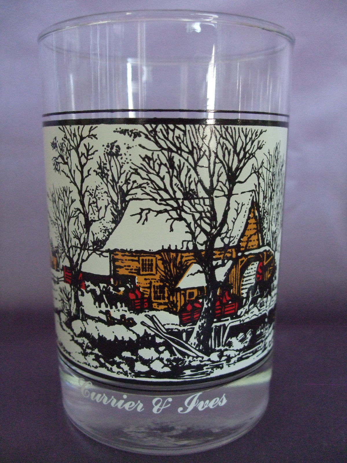 Arby's Currier & Ives Collector's Series Glasses, Set of 4